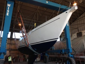 After a complete refit.
